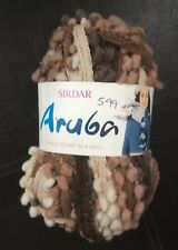 Sirdar ARUBA Frilly Scarf Knitting Wool / Yarn 100g - 0805 Brown tones
