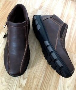 NEW Men Fur Lined Orthopaedic Diabetic Zip up Brown Walk Boots Shoes Light Size