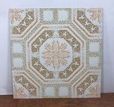 "Vintage Amtico Duravinyl Vinyl Tiles12""X12"" 9 Sq Feet Mid Century Nos Art Crafts"