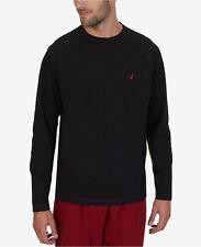 NWT NAUTICA Men's Lightweight Raglan Lounge T-Shirt Top Sleepwear Size XL Black