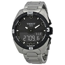 Tissot T-Touch Expert Solar Black Dial Titanium Mens Watch T0914204405100