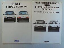 Prospekt Fiat Cinquecento, 2.1993, 28 Seiten + Technik/Ausstattung