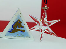 MINT Extremely Rare Swarovski (1993) Holiday Christmas Ornament STAR  80771  C40
