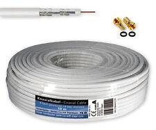 10 m SAT Kabel Koaxialkabel 120 dB Antennenkabel 4-fach geschirmt + 2 F-Stecker
