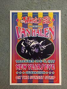 Van Halen Whisky A Go Go Concert Poster New Years Eve 1977 Mint RIP Eddie