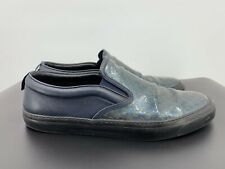 """Gucci """"guccisima"""" Low Top Green & Blue Patent Leather Sneakers Size 11 EU/12 USA"""