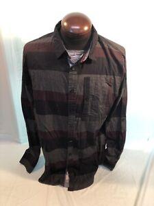 Mens NEW TRIPLE FIVE TMF182250 Plaid Cotton XL Extra Large Strap Up Sleeve Shirt