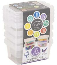 Clear Crystal Boxes with Lids 500ml, 4 Pack - WHAM