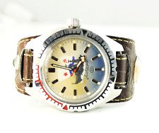 Mens Russia Amphibian 200m Colorful Ship Dial 17J Ussr Diver Watch Retro Compass