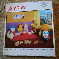 Vintage Philmar Gay Play 40 Piece Wooden Handcut Jigsaw puzzle. 60s?