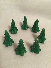 """7 Gurley Christmas Tree Candles 3"""" Tall Glitter"""