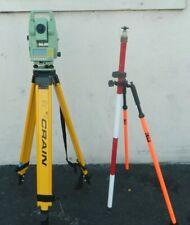 Leica TCRA1103 Plus Survey Robotic Total Station w/ Tripod & Prism Pole