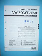 Servicio Manual de instrucciones para YAMAHA cdx-520/cd-1050, original