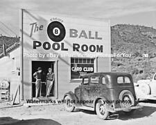 Old Antique Vintage 1940 Pool Hall Billiards 8 Ball Card Club Tobacco Shop Photo