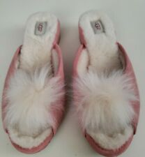 UGG Preowned Womens Pink Suede Slippers Size 8