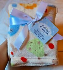 Baby Blanket with very cute animal pics, soft and comfy