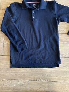 French Toast School Uniform Unisex Long Sleeve Black Polo Shirt Sizes 10-12