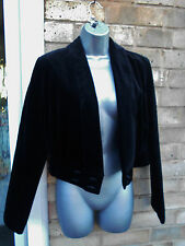 LAURA ASHLEY ladies womens black velvet bolero top formal occasion party size 10