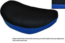 BLACK & ROYAL BLUE CUSTOM FITS SUZUKI LS 650 SAVAGE FRONT LEATHER SEAT COVER