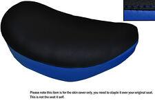 BLACK & ROYAL BLUE CUSTOM FITS SUZUKI LS 650 SAVAGE FRONT LEATHER SEAT COVER