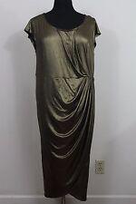 Torrid Metallic Gold Ruched Evening Cocktail Maxi Dress Womens Plus 2X 18 20