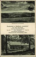 St. Sankt Andreasberg Harz AK 1934 Restaurant Stadtbad Lesehalle Frei-Tanzdiele