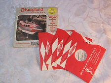DISNEYLAND TOMORROWLAND VIEW-MASTER REELS WITH COVER MOON ROCKET   T*