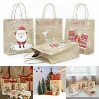 Kraft Paper Bag Merry Christmas Gift Bag Wedding Packaging Bag Xmas Party Favor
