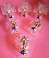 12pcs Mini Rosary for Girls 1stCommunion,Rosario de niña recuerdo 1ra Communion