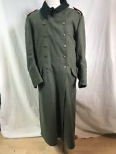 REPRODUCTION MILITARY Long Coat Wool Loden Green - WWI-II  XXL IMPECCABLE