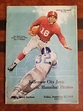 VINTAGE SEPT 21 1956 JEFFERSON CITY JAYS vs HANNIBAL PIRATES FOOTBALL PROGRAM