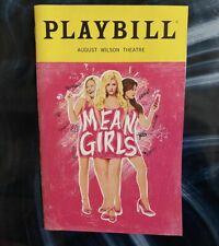 MEAN GIRLS ORIGINAL COVER BROADWAY TINA FEY MUSICAL PLAYBILL PROGRAM