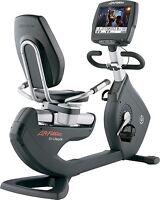 "Life Fitness 95R Engage Recumbent Bike W/ Step Through Mount & 15"" LCD"