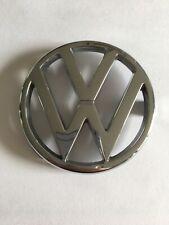 VW Front Grille Badge Logo Emblem Silver Chrome Plastic 325853601