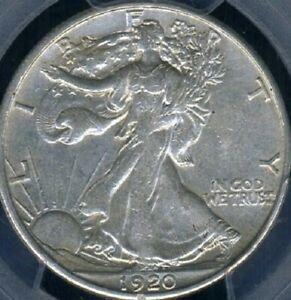 1920 S WALKING LIBERTY HALF DOLLAR KEY DATE xf extra fine + LOOKS AU PCGS XF45
