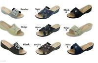Light Weight Women Comfort Slide Wedge Sandals Sizes 6 7 8 9  10 11