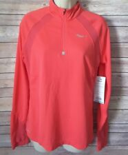 SAUCONY 1/4 Zip Transition Running Pullover Sportop Women's Size M Pink