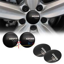 4pcs 56.5mm ADVAN JP Racing Aluminum Car Wheel Center Hub Caps Sticker Emblems
