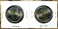 Canada 2008 Quebec 400th Anniversary BU UNC Toonie From Mint Roll!!