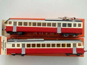 (137) Kleinbahn Schweizer Doppeltriebwagen Triebwagen Steuerwagen AB Fe 4/8 OVP