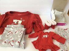 American Girl Polar Bear Pajamas For Girl (Size 10-12) And Doll