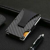 Mens Metal Wallet Slim ID Credit Card Holder Anti Theft RFID Blocking Protector