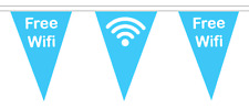 Free WiFi Polyester Bunting - 5m with 12 Flags - Cafe & Library Internet Access