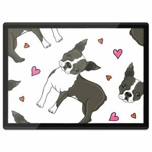 Quickmat Plastic Placemat A3 - Boston Terrier Puppy Fun Dog  #3130