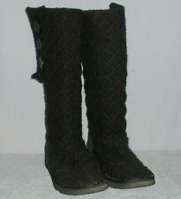 UGG Australia Classic Cardy Sweater Womens Boots Size 8 Black 3 Buttons 3066