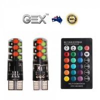 Premium Remote T10 Wedge RGB Car LED Light 8 Colour Changing Ceramic 6SMD 12V