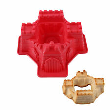 3D Castle Shape Silicone Bakeware Bundt Cake Baking Tin Mold Mould Pan.