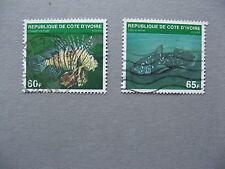 IVORY COAST, 2x stamp 1979, used, fish