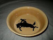 Cowboy Living -Bucking Bronco -Bull Riding Large Stoneware Bowl