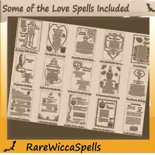 HUGE COLLECTION SPELL PGS BOOK OF SHADOWS Over 540 Parch Pgs Wicca Pagan Rituals